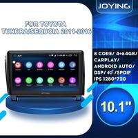 Android Car Radio For Toyota Tundra 2011 2016 Sequoia 2008+ DVD Multimedia Player 10 IPS Bluetooth DSP Stereo Head Unit Video