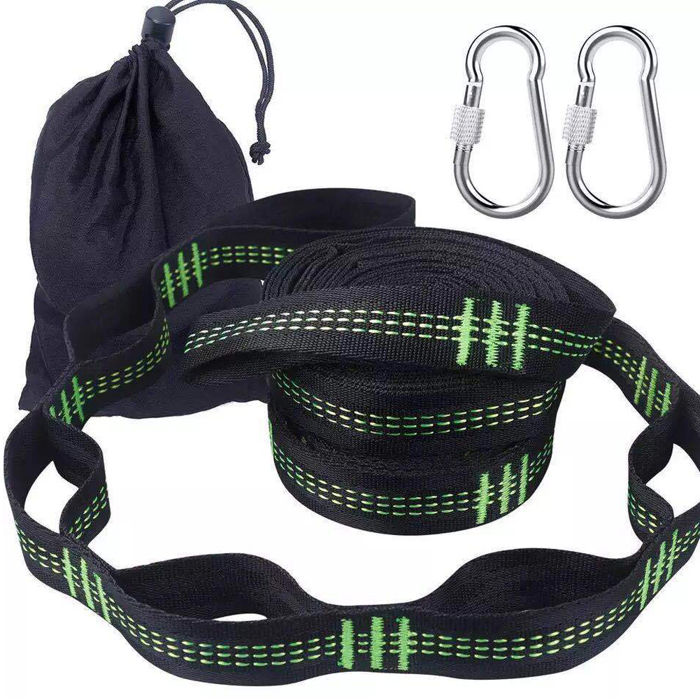 Hammock-Strap Swing-Accessories Climbing-Buckle Lightweight Adjustable Hiking Outdoor