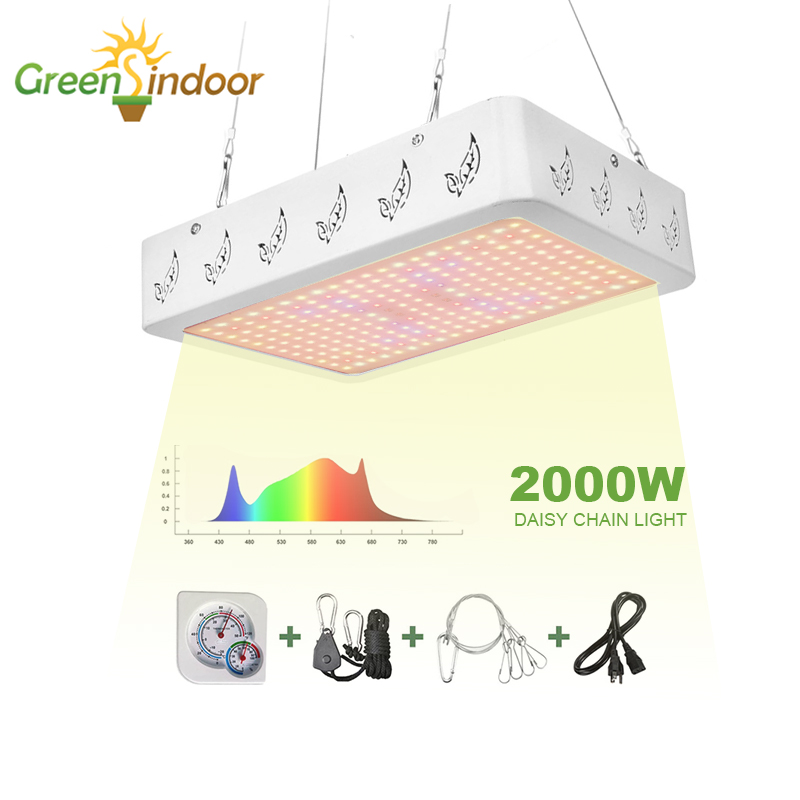 LED Lights For Indoor Growing 2000W 1000W Grow Led Light Daisy Chain Phyto Lamp For Plant Grow Tent Flowers Lamps Veg Hydroponic
