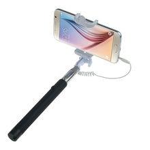 Vara handheld extensível conveniente do monopod do suporte do auto-retrato para a vara de selfie do telefone celular com controle do fio