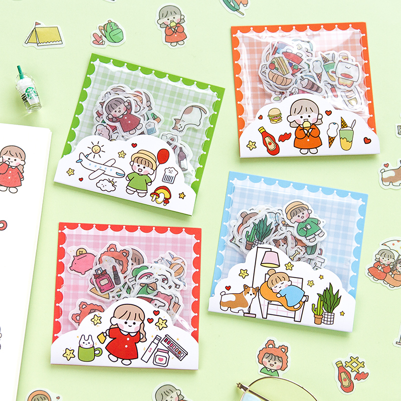 40pcs/pack Kawaii Little Theater Decorative Adhesive Stickers Scrapbooking Diy Diary Album Stick Label Decor