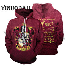 Wizardry 3D Printed Hoodie with Pocket Ravenclaw Gryffindor for Adult Unisex Sweatshirt Costume Hoodies Men Clothes