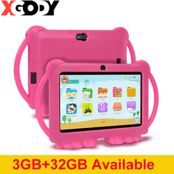 XGODY Children Learning Education Tablet 3GB 32GB Kids Tablet 7inch HD with Silicone Case USB charge Quad Core