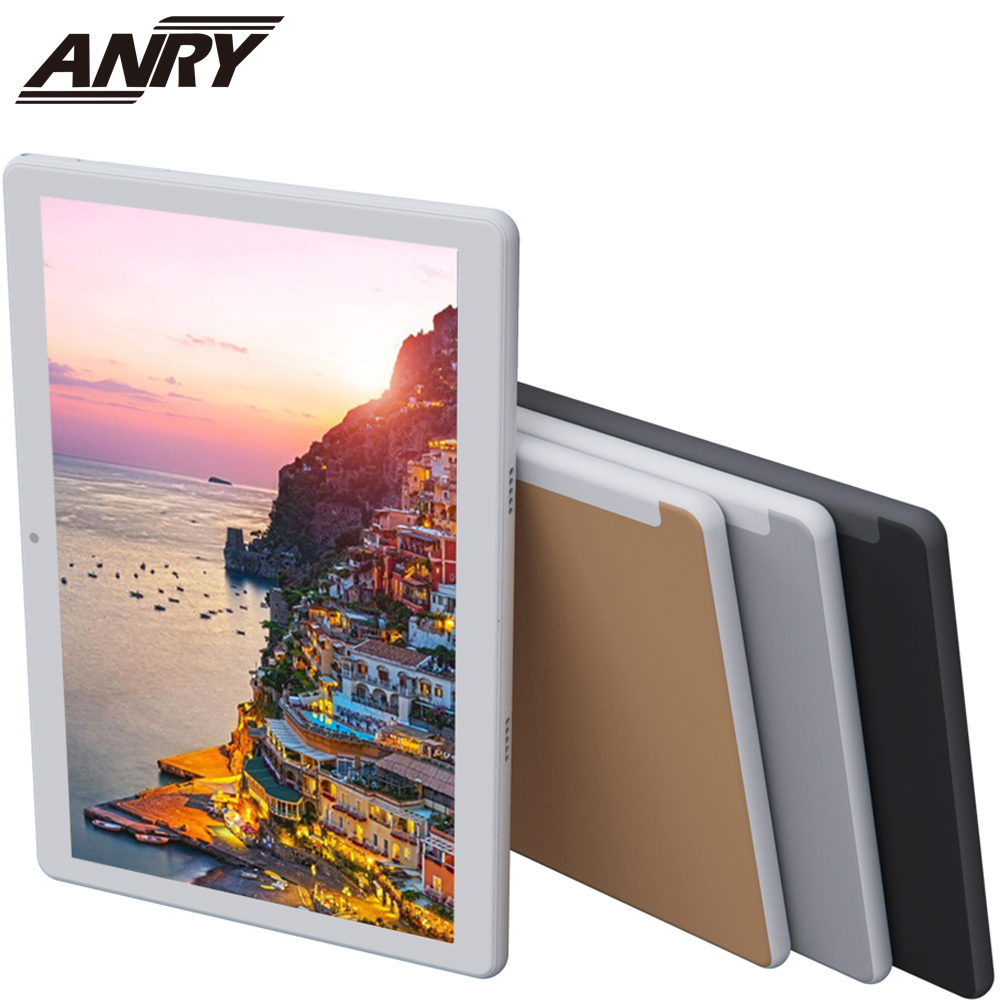 ANRY Tab 10.1 Inch Touch Tablet Android Octa Core 4GB RAM 64GB ROM With Sim Card Slot WiFi GPS Bluetooth Dual Cameras