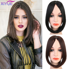 Long Synthetic Hair Pad Bangs Hair Fashion Long Clip In on F