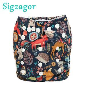 [Sigzagor]Baby Pocket Cloth Diaper Nappy One Size OS Reusable Washable No Inserts(China)