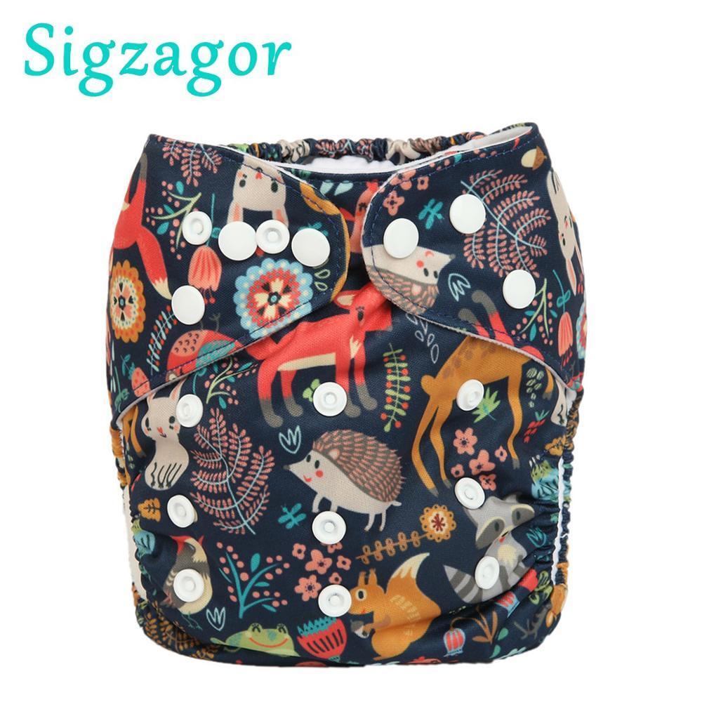 [Sigzagor] Детские карманные тканевые подгузники одного размера OS Многоразовые моющиеся без вставок