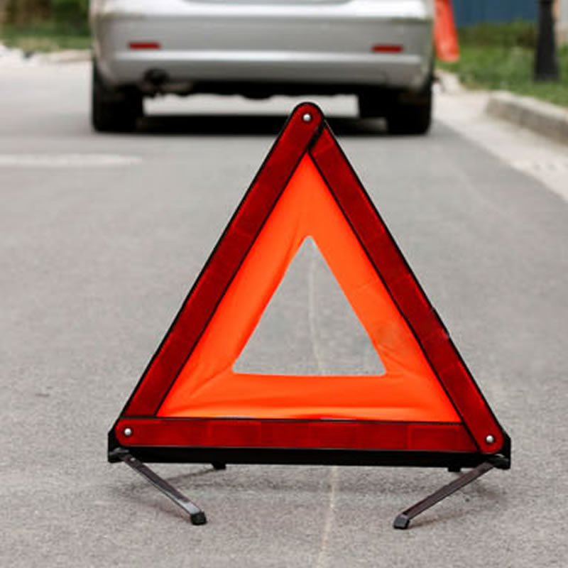Red Travel Fold Up Exclamation Safety Triangle Warning Triangle