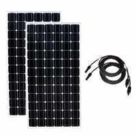 Panel słoneczny 200w 24v monokrystaliczny 2 sztuk panele Solares 400w 48v bateria słoneczna ładowarka domowy system zasilania energią słoneczną samochody kempingowe przyczepy kempingowej