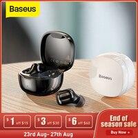 Baseus WM01 TWS Bluetooth Kopfhörer mit Mikrofon Stereo Wireless 5,0 Noise Cancelling Touch Control Gaming Sport Kopfhörer