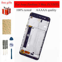 For Asus Zenfone 3 Max ZC520TL Touch Screen Digitizer Sensor Glass Panel + LCD Display Monitor Screen Module Assembly Frame