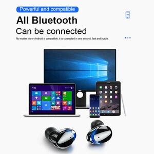 Image 5 - T8 Bluetooth 5.0 אוזניות מגע שליטה אלחוטי Headphons HD סטריאו עמיד למים אוזניות עם 3000 mAh LED תצוגת טעינת תיבה