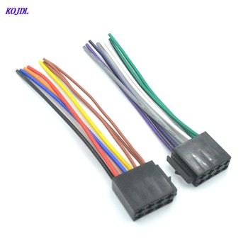 1Pair auto Universal ISO Wiring Harness Female Car Radio CD player Adaptor Connector Wire Plug Kit MP5 Player Cable suit KOJDL image