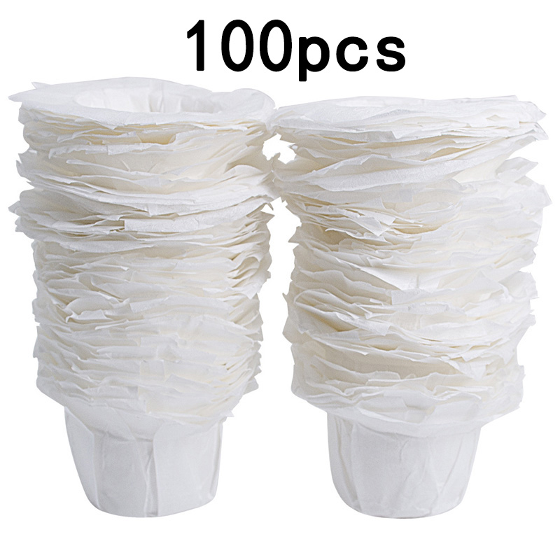 100Pcs 51-100ml Coffee Paper Filters Cups Replacement Disposable K Cup For Keurig coffee machine home kitchen filter paper