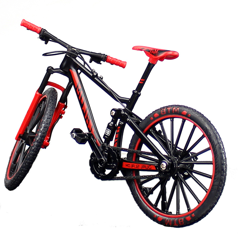 1:10 Scale Metal Alloy Bicycle Model Toy Racing Cross Mountain Bike Copy Collection Diecast Children's Gift Home Display Show