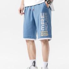 Boy Shorts Male Fashion Summer Casual Blue Letter Black Thin Gray Knee-Length S13 Teenage