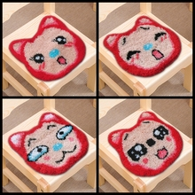 Cartoon Smyrna Latch Hook Rug Kit Crocheting Yarn Mat Needle for Carpet Embroidery Cushion Button Package Cute Latch Hook Pillow иглы latch needle sk 860