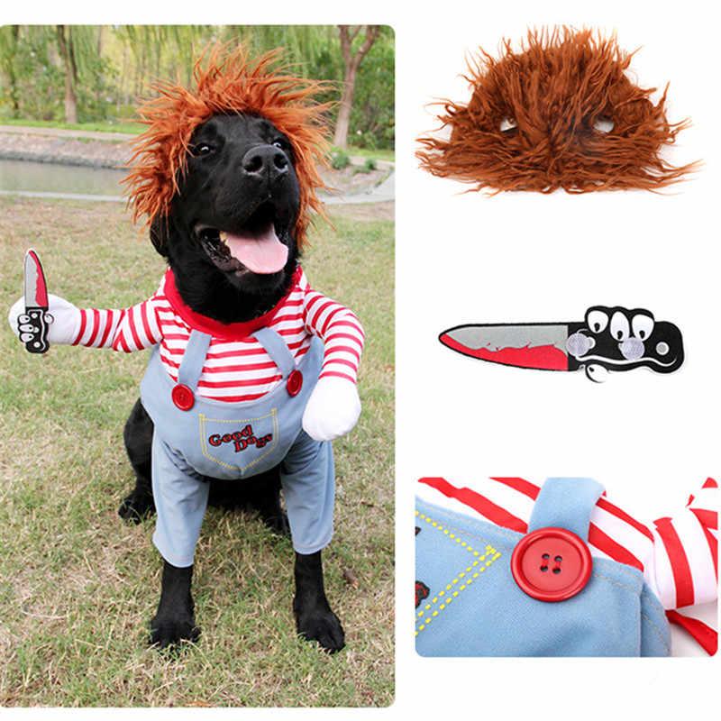 Funny Dog Clothes Winter Halloween Pet Clothing Pug French Bulldog Costume Corgi Shiba Inu Golden Retriever Big Large Dog Outfit
