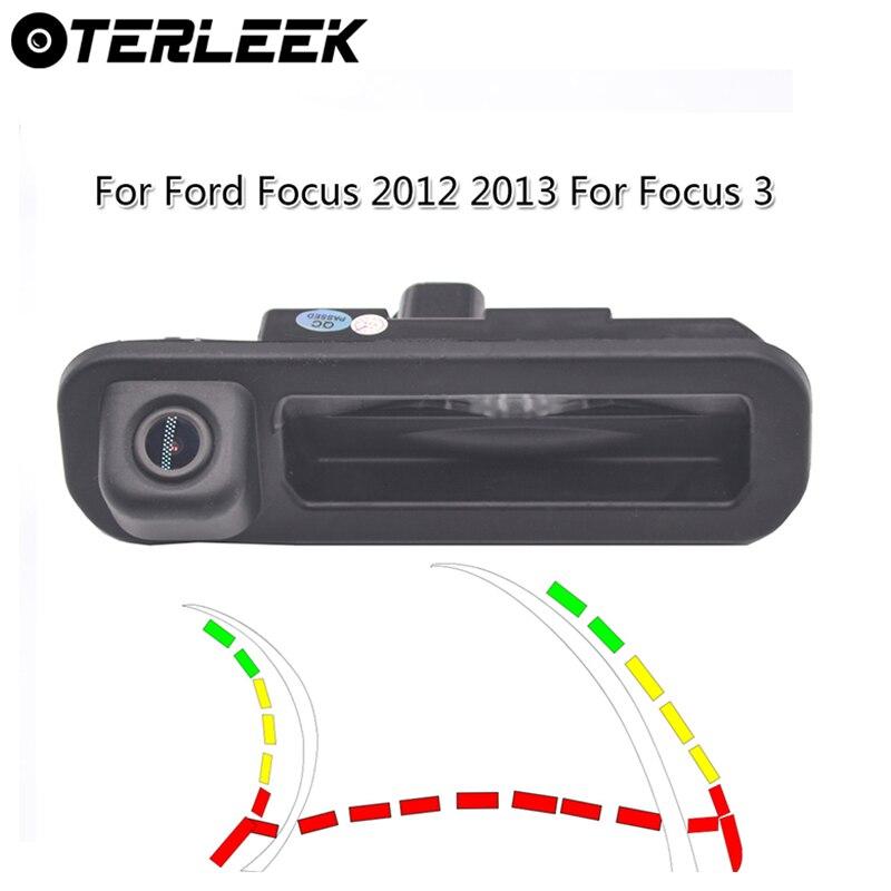 Новая умная динамическая траектория светодиодный камера заднего вида DC12V 150 широкоугольная Автомобильная камера заднего вида для FordFocus 2012 ...