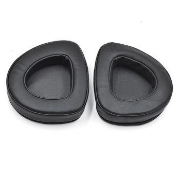 2 sztuk skórzane płótno nauszniki nauszniki pokrywa dla ASUS ROG Delta Aura Sync zestaw słuchawkowy B36A