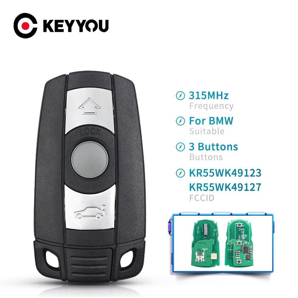 KEYYOU автомобильный пульт дистанционного управления Smart Key 315 МГц/868 МГц для BMW 1/3/5/7 серии CAS3 X5 X6 Z4 автомобильный пульт дистанционного управлени...
