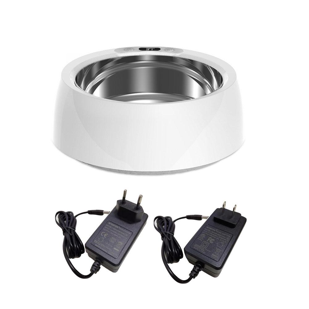 Heated Pet Bowl Pet Dog Cats Winter Heated Bowl Automatic Constant Temperature Pet Feeder Dog Thermal-Bowl With Anti-Slip Bottom