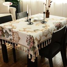 Orgulhoso rosa europeu chenille mesa pano engrossar toalhas de mesa casa retangular capa pano dustproof personalizado
