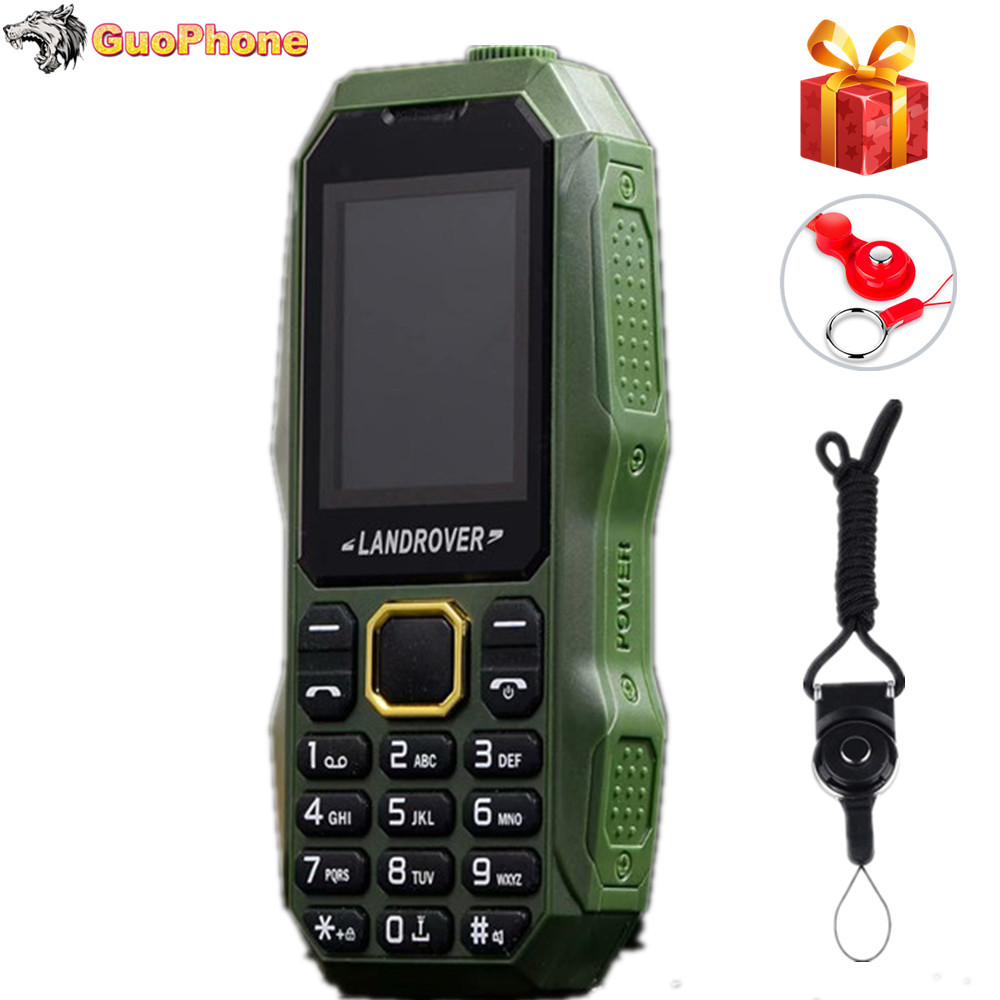 "Land Rover F2 Push Button Mobile Phone 1.8"" MP3 FM Radio FlashLight Bluetooth Shockproof Dustproof Rugged Cheap Telephone"