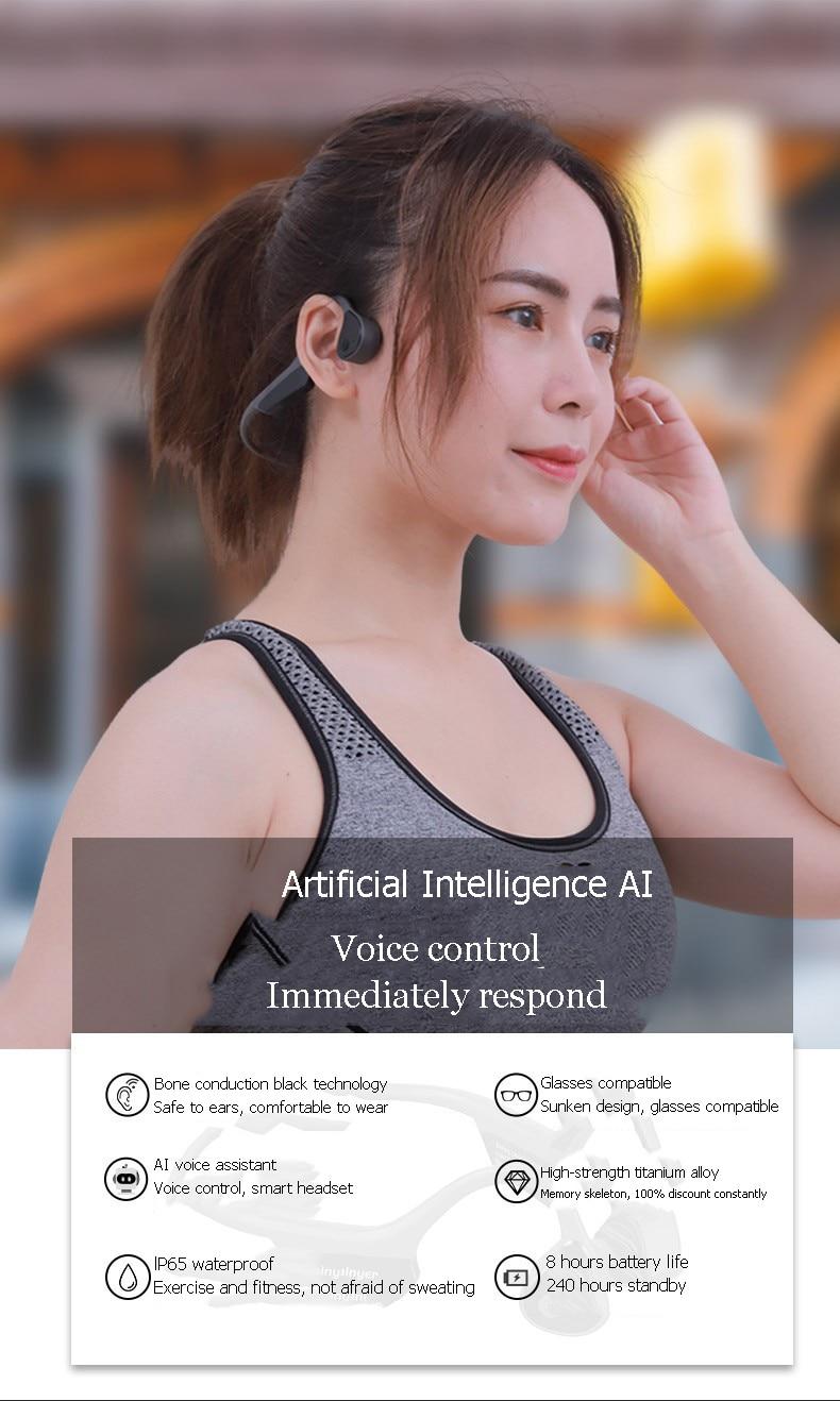 Pro9 tws condução óssea fones de ouvido