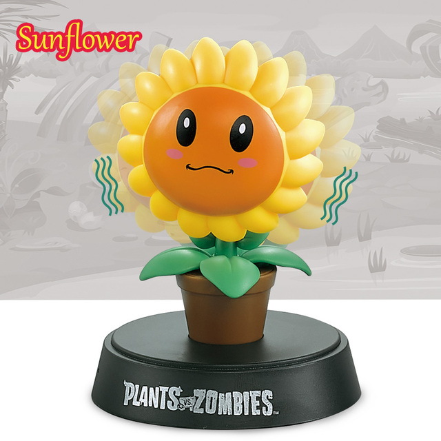 cute shake head doll plants vs. zombies hand model toy funny wobble head robot car interior decoration ornament car accessories