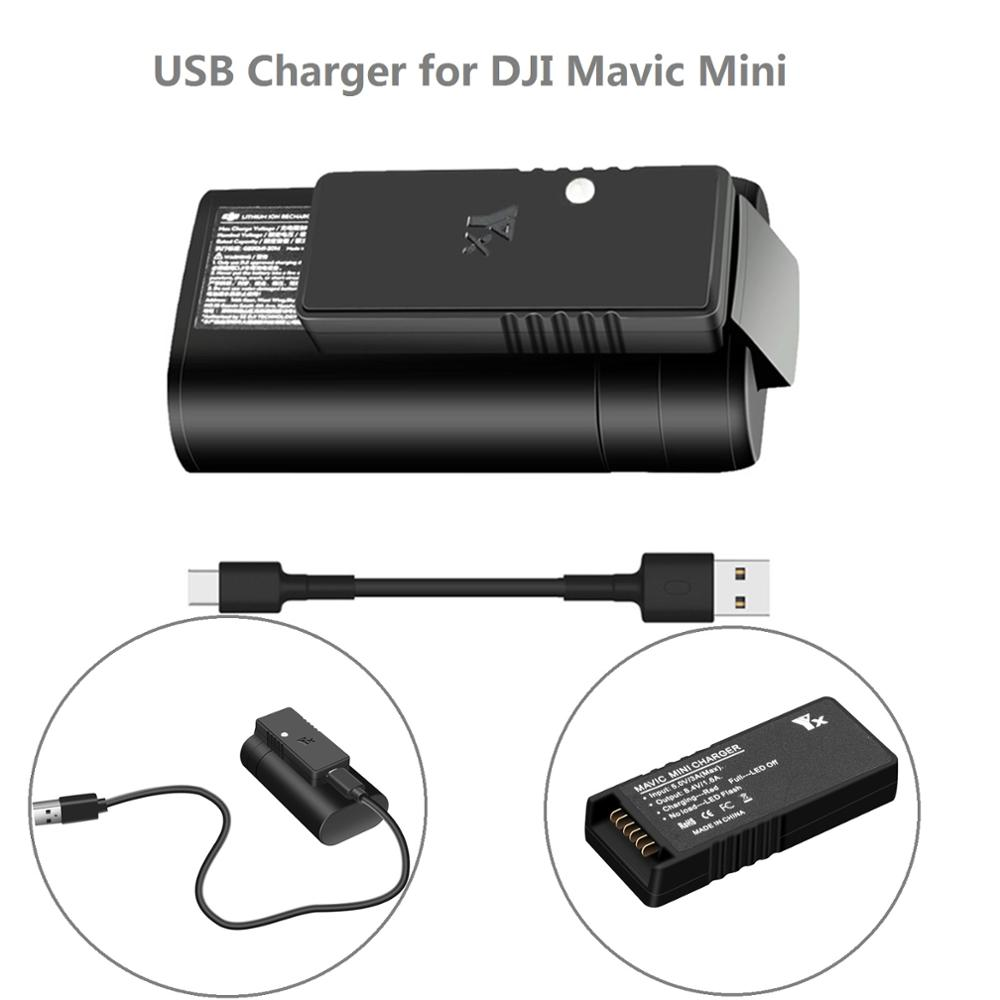 For Mavic Mini Fast Charger USB Battery Charging Hub For DJI Mavic Mini Drone Drone Accessories With Charging Cable Type C