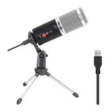 FREEBOSS FB-W03 192KHz 16 bits fréquence d'échantillonnage cardioïde Capsule à faible bruit enregistrement Chat USB ordinateur condensateur Microphone