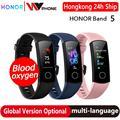 global version Optional Honor band 5 smart band AMOLED heart rate fitness sleep swimming sport blood oxygen tracker