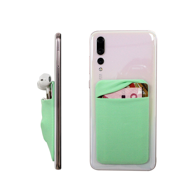 New Fashion Beautiful Universal Lycrab Phone Back Decorative Sticker With Credit Card Slot Suitable for 4.7-6.8 inch phone