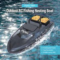 Flytec V007 RC bateaux pêche en plein air bateau de nidification croisière à vitesse fixe Correction de lacet coque Double moteur conception anti-parasitage