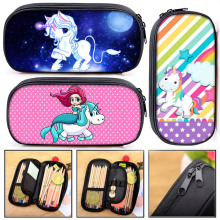 Kawaii Cartoon Mermaid Unicorn Print Cosmetic Case Teenager