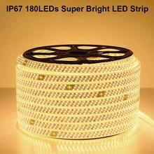 GD SMD LED Strip 13M-50M  220V Super Bright 2835 180LEDs/M Light Tape Outdoor IP67 Waterproof AC220V Rope +EU Plug