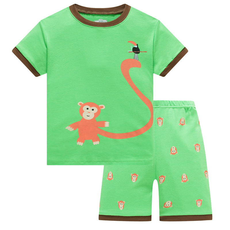 Baby Boys Pajama Set T shirts Truk Pants 100% Cotton Kid pijama Boy clothes  children Sleepwear Top Quality|Pajama Sets| - AliExpress