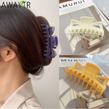 AWAYTR Korean Fashion Women Acrylic Hair Claw Clips Barrettes Big Size Girls Hair Accessories Ornament Makeup Styling Headdress