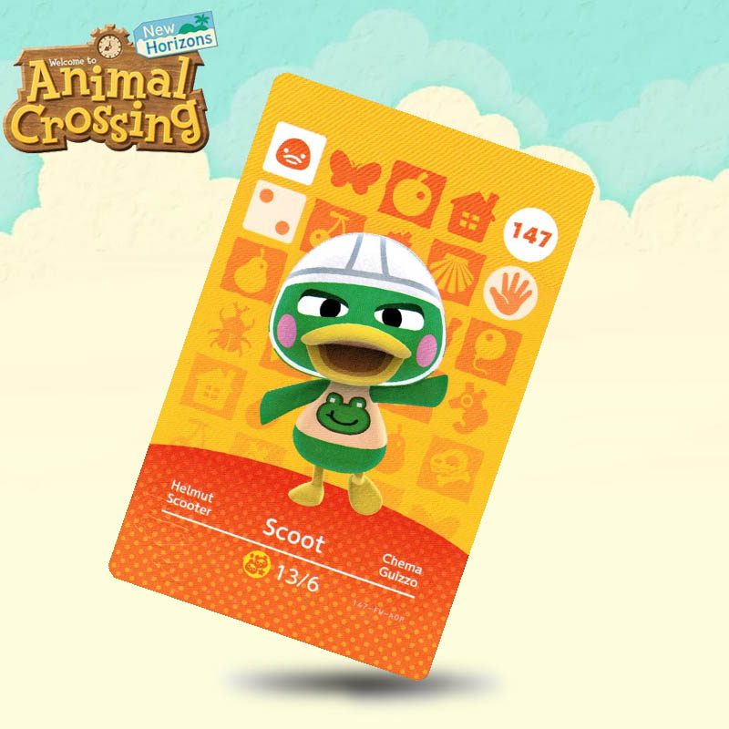147 Scoot Animal Crossing Card Amiibo Cards Work For Switch NS 3DS Games