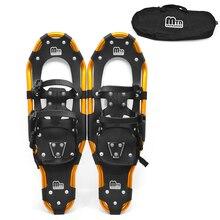 Зимняя обувь для женщин и мужчин; противоскользящая обувь для альпинизма из алюминия; зимняя обувь для прогулок; зимняя обувь с регулируемыми застежками; сумка для переноски