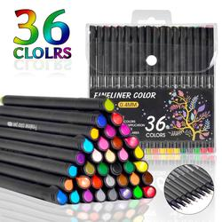 Fineliner Pen 12/24/36/48/60 kolorowe 0.4mm Micron Liner do kolorowego szkicu Marker zestaw artystyczny do szkoły długopis biurowy