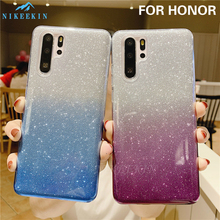 Crystal Glitter Case for Huawei Honor 10 Lite 20S 10i 9X 7X 7A 6C 6X 6A Bling Gradient Cover for Honor 8X 8S 8A 8C 7S 7C Pro dreamfox m155 wu tang killa bees hip hop soft tpu silicone case cover for huawei honor 6a 6c 6x 7a 7c 7s 7x 8 lite pro