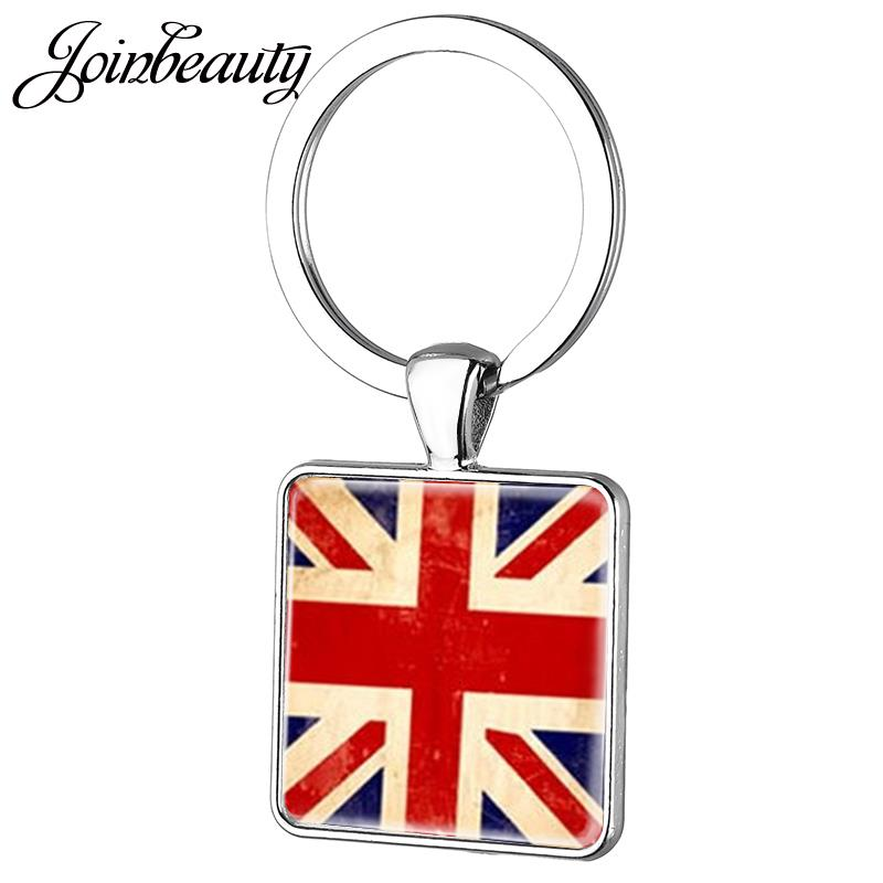 "RED WHITE BLUE UNION JACK BRITISH FLAG FASHION NECKLACE PENDANT 13/""CHAIN UK SELL"