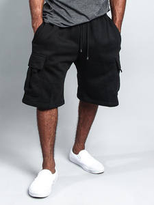 Bodybuilding Shorts Summer Casual Fashion Jogger Pocket Gyms Fitness Solid-Color Long