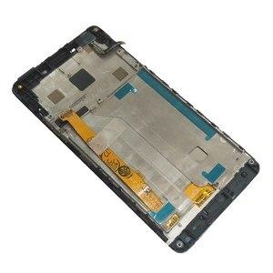 """Image 5 - Orijinal 5.0 """"Lenovo VIBE P1M P1Ma40 P1mc50 LCD ekran + dokunmatik ekran Digitizer meclisi için P1Ma40 P1mc50 LCD çerçeve ile"""
