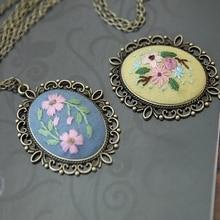 DIY Pre-Printed Embroidery Beginners Set European Retro Needlework Floral Pattern Cross Stitch Kit w