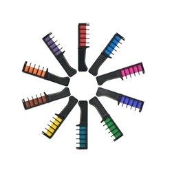 Do włosów tymczasowych Pro Mini kredki kredki 10 kolorów do do włosów Multicolor barwnik grzebień do farbowania włosów przybory do pielęgnacji i stylizacji włosów zestaw