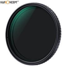 K&F CONCEPT 52/58/62/67/72/77/82mm Fader ND Filter Coated Neutral Density Variable Filter ND2-ND32 for Camera lens NO
