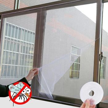 150cm x 130cm Fly okno na komary netto osłona siatkowa kryty owad ekran przeciw muchom kurtyna Mesh Bug moskitiera łatwy w montażu z taśmą tanie i dobre opinie Hook Loop Zapięcie Insect Window Net Gaza 150cmx130cm Approx 500cm